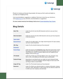 Kalungi B2B SaaS Blog Template