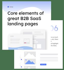 B2B SaaS Landing Page Booklet Mockup Landing page