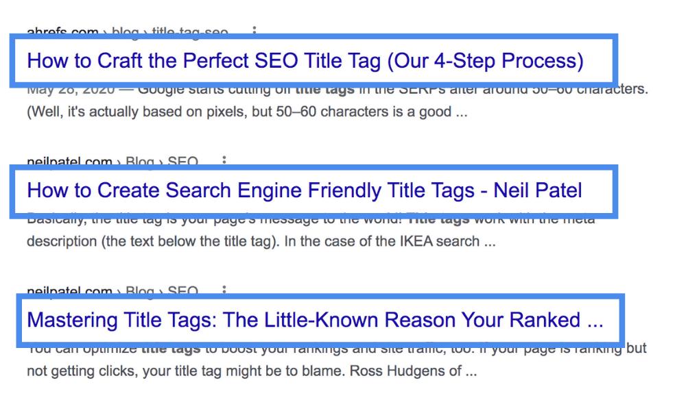 on page seo meta titles