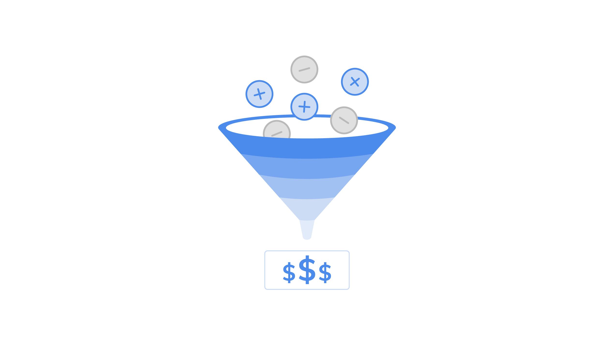 Metrics to measure SaaS churn - funnel